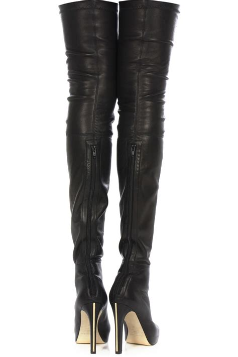 in thigh high leather boots pics images