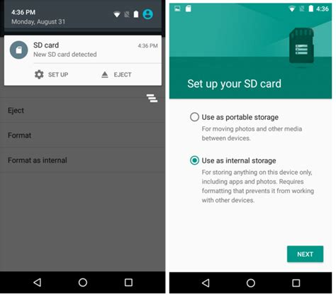 sd card android how to use sd card as storage on marshmallow the android soul