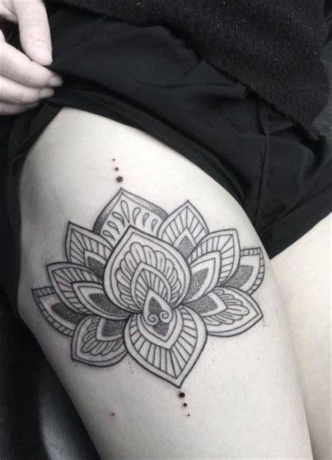 lotus tattoo on thigh best 25 side thigh tattoos ideas on pinterest heart