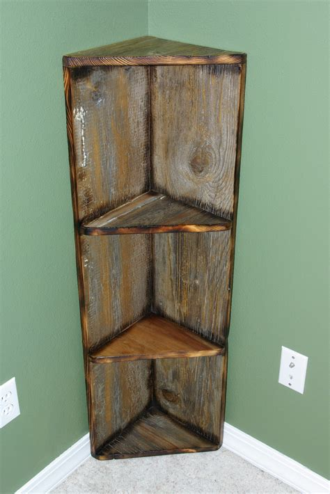 decorative corner shelves reclaimed rustics barn wood corner shelf