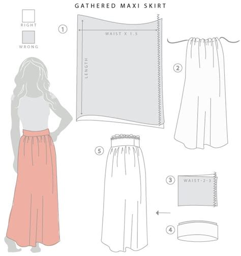 drafting a maxi skirt pattern let s sew pattern