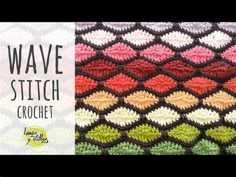 wave pattern youtube tutorial crochet wave stitch youtube