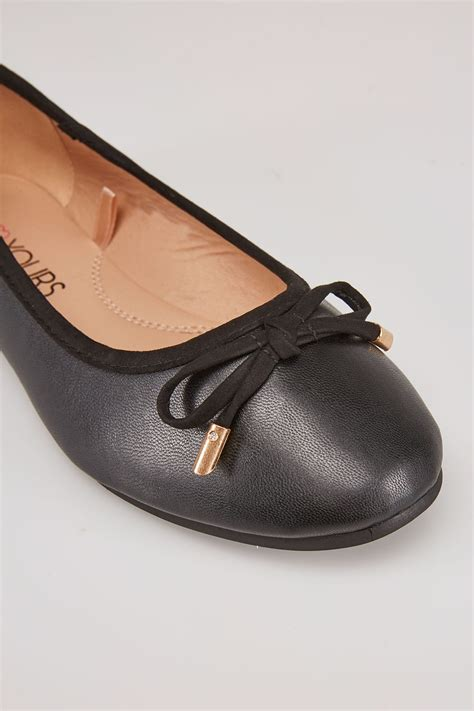 boat show voucher codes black ballerina pump with bow detail in true eee fit