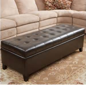 ottoman with storage leather fulham bonded leather storage ottoman
