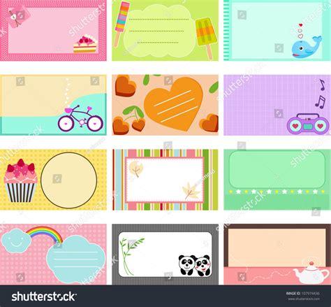 design label name vector design elements blank label sweet stock vector