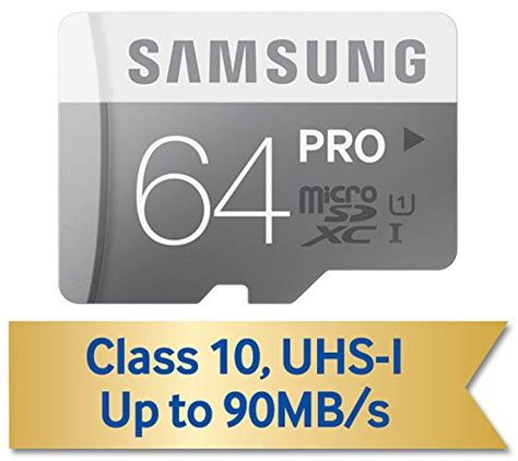 Samsung Sdxc Pro Class 10 90mbs 64gb Mb Sg64d samsung 64gb pro class 10 micro sdxc up to 90mb s with adapter mb mg64da am cheap wireless