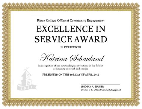 service award certificate template doing more together 04 01 2012 05 01 2012