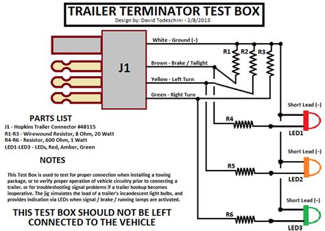wiring diagram for a trailer board efcaviation