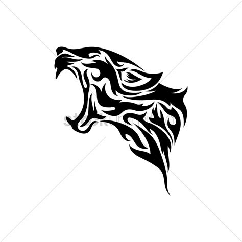 tribal leopard tattoos leopard tribal vector image 1480238 stockunlimited