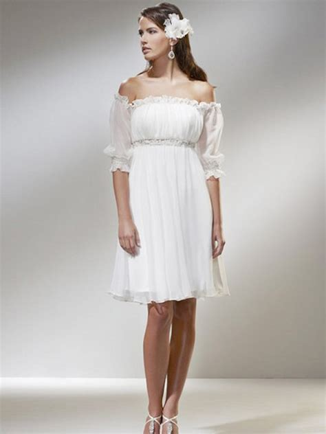 casual short wedding dresses with sleeves styles