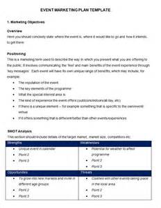 event marketing plan template 9 free word documents