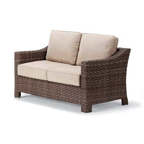 outdoor wicker loveseat wicker loveseat patio furniture chicpeastudio