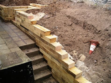 How To Build Steps With Railway Sleepers by Colinporter Railway Sleeper Steps