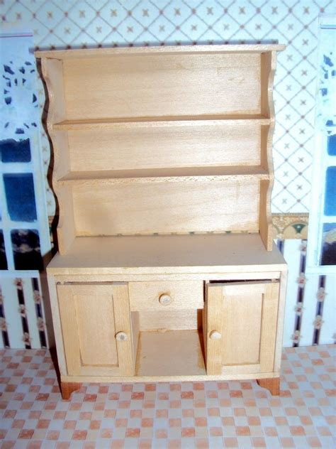 miniature dollhouse kitchen furniture dollhouse miniature furniture kitchen hutch plan ebay