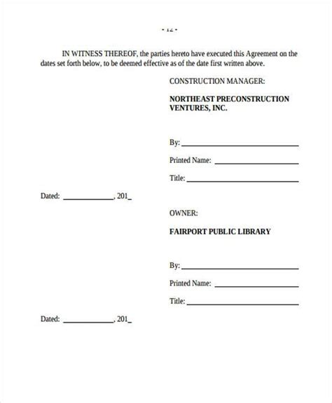 construction management agreement 9 construction agreement form sles free sle