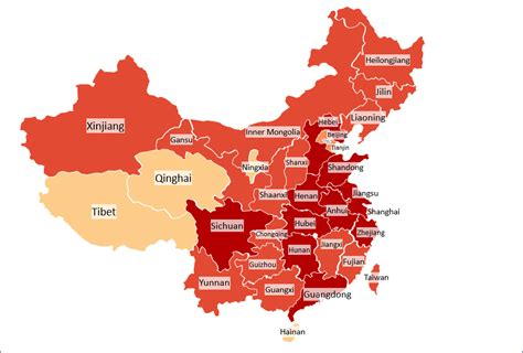 china heat map excel template automatic city state