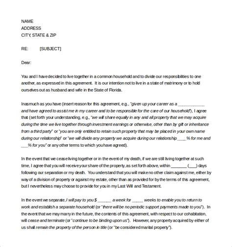 sample cohabitation agreements  google docs ms