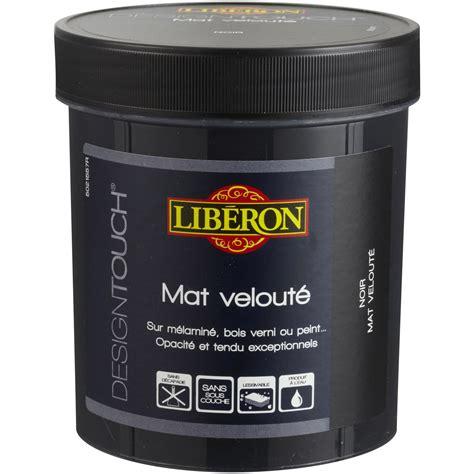 Peinture Sol Noir by Peinture 224 Effet Mat Liberon Design Touch Noir 0 5 L