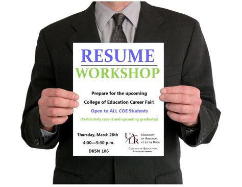 Resume Workshop by Resume Workshop College Of Education And Health