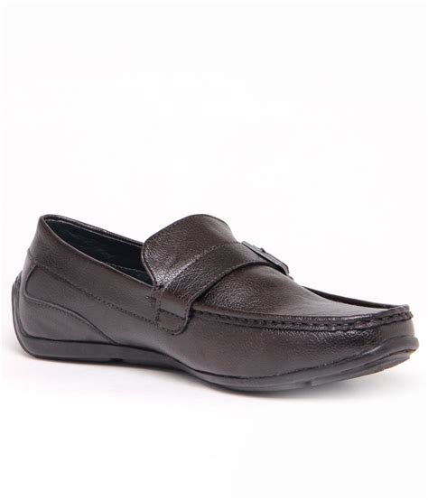 gas suave brown slip on casual shoes price in india buy