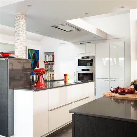 white gloss kitchen ideas white high gloss island unit housetohome co uk