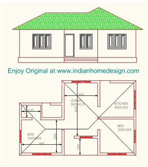 low cost 2 bedroom indian home plan indian home design