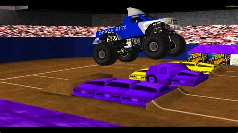 monster truck videos with music shark bite custom monster truck theme song youtube
