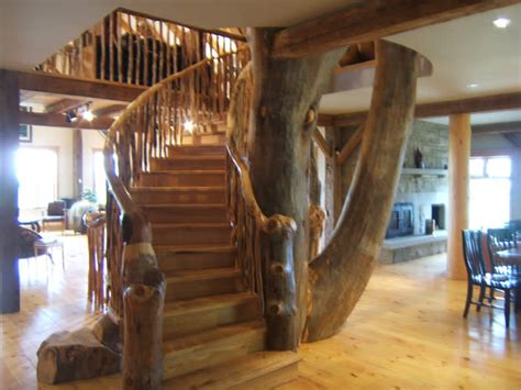 Basement Wrap incorporate a tree into your timber frame