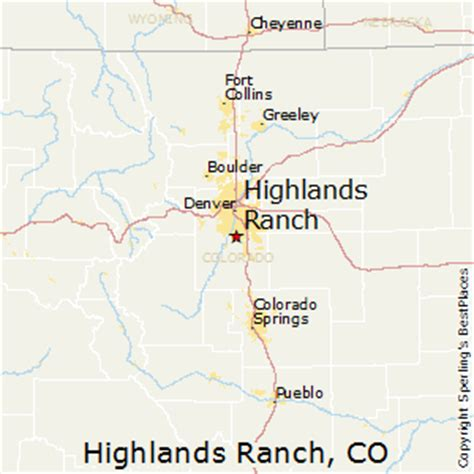 highlands ranch colorado map best places to live in highlands ranch colorado
