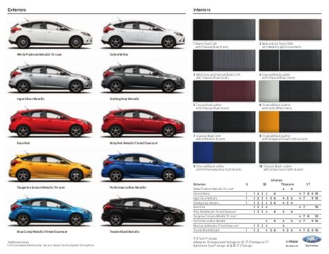 ford focus paint colour z3 ford focus brochure from ford richmond va
