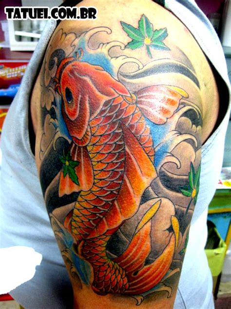 dragon koi fish tattoo forearm
