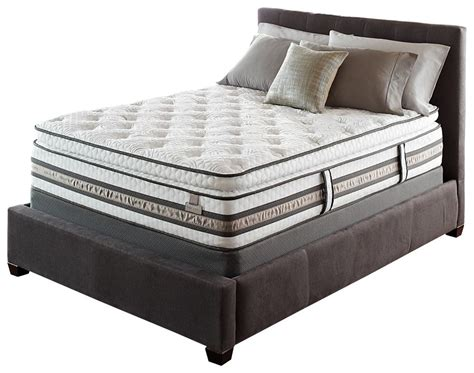 pillow top queen bed serta iseries merit super pillow top queen mattress hybrid