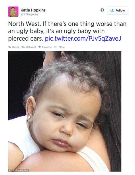is kim kardashian daughter really named north katie hopkins brands kim kardashian s daughter north an