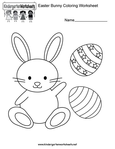 worksheets for preschool easter easter bunny coloring worksheet free kindergarten
