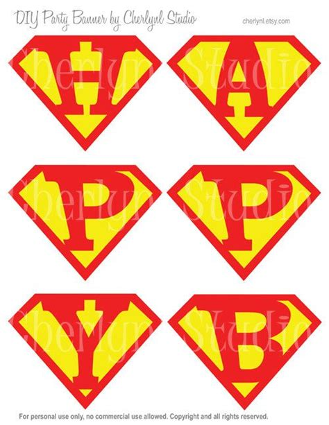 Printable Superman Banner | 9 best images of free superman printable birthday banners