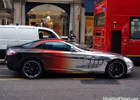 Chrom Lackierung Auto by 2006 Mercedes Slr With Black Chrome Paint