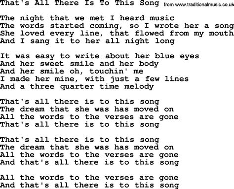 All There Is willie nelson song that s all there is to this song lyrics