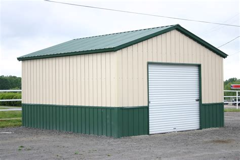 Small Metal Garage by Building Roof Styles Steel Tech Buildings Metal