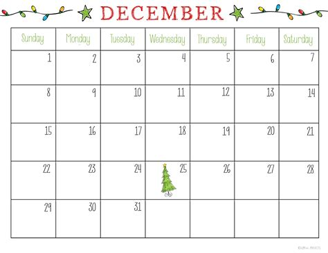 christmas planner free printable 2015 6 best images of december calendar free printable free