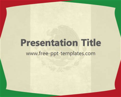 Mexico Ppt Template Free Powerpoint Templates Mexican Themed Powerpoint Template