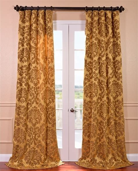 bronze curtain astoria gold bronze faux silk jacquard curtain