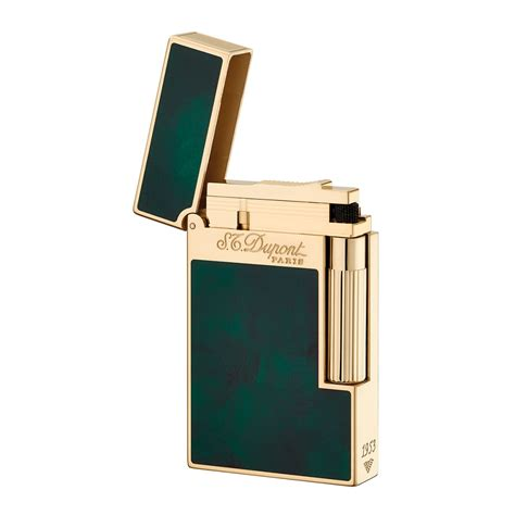 St Dupont Lighter st dupont ligne 2 atelier lighter emerald green