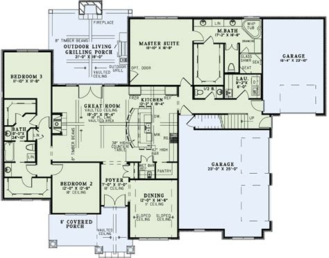 single story house plans with bonus room house plan 82162 at familyhomeplans com
