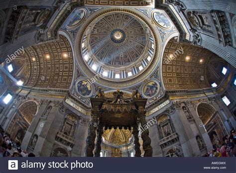 cupola bernini crossing cupola and bernini s canopy interior of st