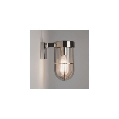 cabin outdoor lighting astro 7560 cabin outdoor wall light in polished nickel ip44