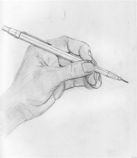 Sketches Holding by And Pencil Picture By Tinstoy For Drawing