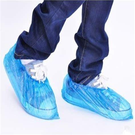 shoe plastic cover 100pcs pack elastic disposable plastic shoe covers