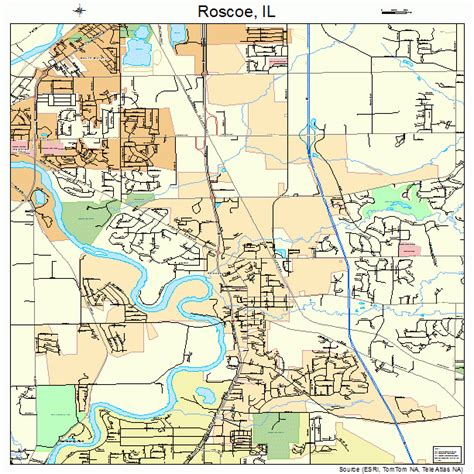 roscoe illinois street map 1765611