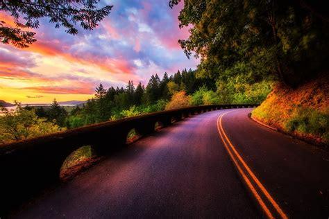 road   sunset    sunriseandsunset