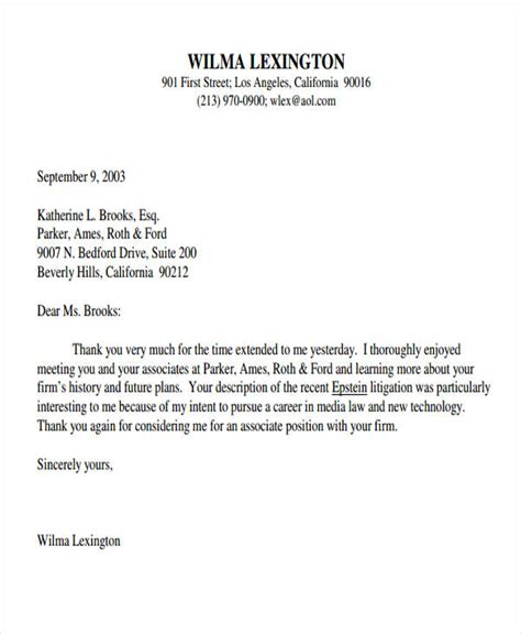 post thank you letter 9 post thank you letter template free sle